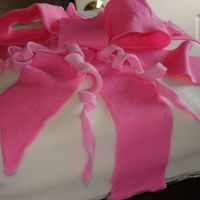 Gift Box With A Bow With Fontant 1st wilton class cake
