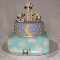 Sleepy Sheep Baby Shower This was for a baby shower today. This is a design I've been working on and wanted to do ever since I started doing cakes! I love...
