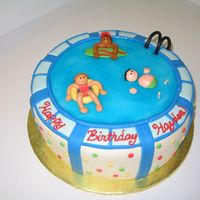 Pool Party This was for a friend's kid's pool party. I got some good ideas from some cakecentral folks, so thanks!