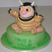 "Where The Wild Things Are I actually started out trying to make that cute valentine's cake with the pink monster that says ""wild thing"" but that was a..."