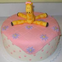 Baby Giraffe Cake I did this as a gift for my friend's baby shower today - she loves giraffes, and her nursery is decorated with them and with daisy-ish...