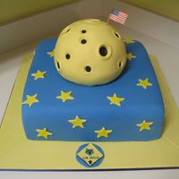 Boy Scout Space Cake THis was for a boy scout court of honor thing, and the theme was future/space. I got this idea from someone on cakecentral, but I can'...