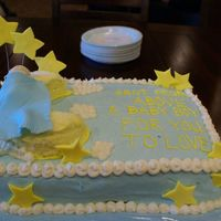 Baby Dreams This is my first baby shower cake. I got ideas from a couple of cakes here on cc. It was a chocolate cake with raspberry filling. Cream...
