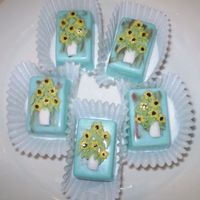 Sunflowers More petit fours for an art teachers.