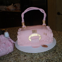 Laurie's Pink Purse   My dear Friend is known for always, no matter what she is wearing she has a pink purse. So the cake for her going away was a nobrainer.