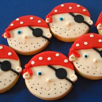 Pirate Cookies! Lots of fun to make!! All made with fondant, which for me works a lot better and nicer than royal icing. I do envy those royal icing queens...