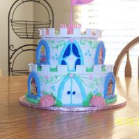 Princess Castle Cake was done for my daughters 4th Princess themed party.