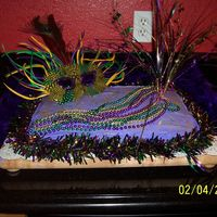 Mardi Gras Cake This was a birthday cake I did for a Mardi Gras themed party. Thanks for looking.
