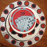 Poker Cake All butttercream and BCFT. For my brothers 36th birthday.