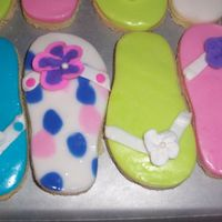 Flip Flop Cookies NFSC flip flop cookies made for a local company picinic.