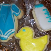 Baby Shower Cookies These are NFSC with RBC that I made for my friends baby shower.
