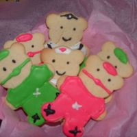 Get Well Teddy Bears Playing Doc. sugar cookies and royal icing. my sons teacher was sick and having an opperation. so he wanted to do something nice.i thought the idea was...
