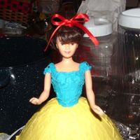 Mothers Day Cake this was my first doll i made it for my adpt. mother she loves snow white.. chocolate cake w/buttercream.