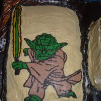 Yoda_Cake.jpg for a friend at my hubs work he loves yoda i did bct