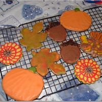 Just Some Fall Cookies sugar cookies and royal icing