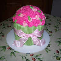 Bouquet Cake Buttercream iced, covered with MMF decorations