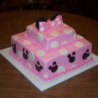 Minnie Mouse Birthday Buttercream with fondant and gumpaste deco.