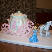 Cinderella's Carriage Covered in MMF with GP wheels and purchased horses/doll.