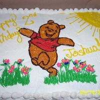 Winnie This cake was for my neighbors son who turned two. Tried to do a BCT, but it didn't turn out right, so I ended up transfering via wax...