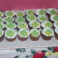 Girls Scout Bridging Ceremony For our bridging ceremony from Brownies to Jr. Girlscouts I made cupcakes with creme de menthe icing and mint chocolate molded into the GS...