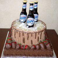 Miller Light Groom's Cake Thanks to SweetResults, Jenn123, and all others that posted in the beer bottle thread. This cake came out better than I thought. Sugar beer...