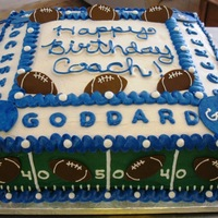Goddard Football footballs and helmets cut w/the Cricut cake, rest is BC