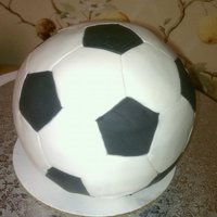 Soccer Ball Thanks to Chef Stef for her advice. This was easy and a lot of fun. Handcut fondant.