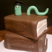Bookworm Graduation Thanks to MKM25. This cake was fun to make.
