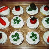 Veggie Cupcakes These are made to go with a graduation cake for a dietician. (Hope its oke to file them here- didn't know where to put them.) It was...