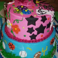 Boy/girl Cake This is one I did for my 4 year old granddaughter and my 1 year old grandson. It had all of their favorite things.
