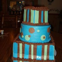 Blue And Brown This is a cake I made for a friend that her favorite colors are blue and brown.