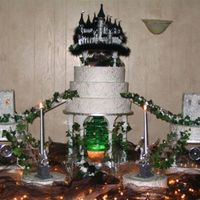 "This Was My Daughters Wedding Cake This was a cake that took some thought, I found this cake topper that is 14"" at the base and was 14 1/2"" high. My daughter had to..."