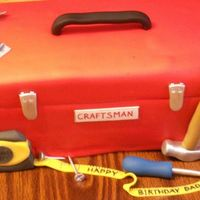 Birthday Toolbox Covered in fondant with all fondant accessories!