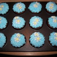 Spring Cupcakes All buttercream done for daughter's b-day
