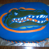 Birthday Cake For 13 Yo. Went through Uof F and received permission to duplicate the logo for a one time birthday cake.