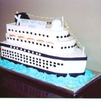 Cruise Ship This cake was for a bridal shower. The couple was cruising on their honeymoom. I was given a picture of their cruise ship to duplicate. I...