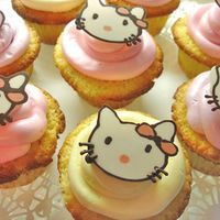 "Hello Kitty Cupcakes Cupcakes decorated in a ""Hello Kitty"" theme for a little girl's birthday celebration...."