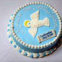 Confirmation Cake Created for a boy receiving his confirmation ....