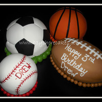 Sports Balls Birthday Cakes   Thanks for looking!