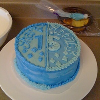 "My Son's 15Th Birthday Cake My son asked me to do a blue cake with the words ""Shark Attack"" on it. There's a story about why ""shark attack"". I..."