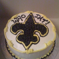 "Fundraiser I made two ""Saints"" cakes for an 8th grade Washington DC fundraiser. We live in South Louisiana, so it didn't last long."