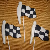 Checkered Flags Sugar Cookies with Royal Icing. Made these for a Cars B-Day.