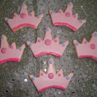 Tiara Cookies Vanilla sugar cookies with royal icing.