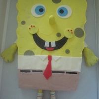 Spongebob Vanilla cake, Pineapple filling, Vanilla BC, and fondant accents