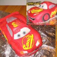 Lightning Mcqueen Cake This is my first time carving and using fondant and gum paste. I made this cake for my nephew's second birthday last year and forgot...