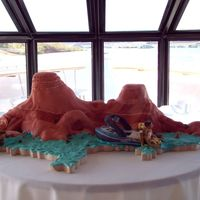 Lake Powell Wedding Cake This was for a wedding on a yacht at Lake Powell. The scenery was where he proposed and the boat he proposed on. This was super fun for me...