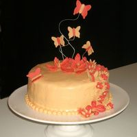 Tiger Lillies And Butterflies I love doing the monochromatic cakes. They are so simple and pretty!