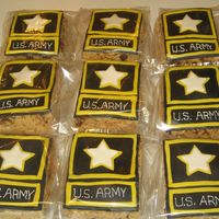 Army Treats   This was for a guy going into basic training. I am always proud to do something for our military men.