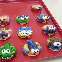 Monster Cookies These are cookies we make at our bakery, very easy to make and kids LOVE them! I have kids who come over just to look at the cookies and...