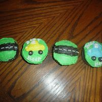 Car Cupcakes   I made these cupcakes for my nephew's 3rd birthday, along with a car cake!